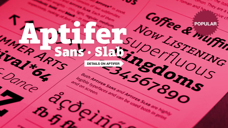 Aptifer Sans usage sample