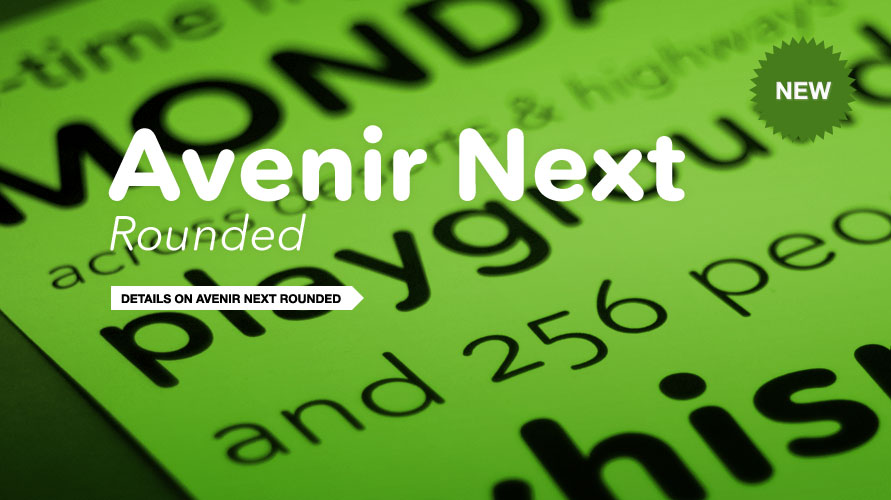 Avenir Next Rounded usage sample