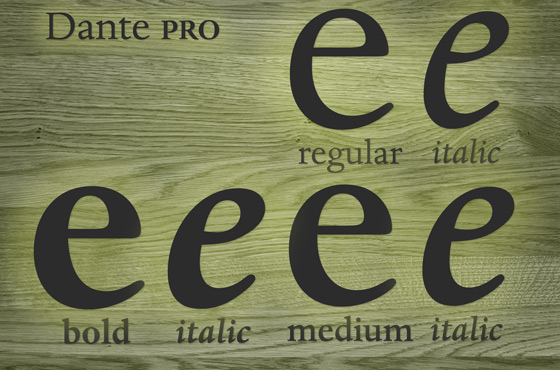 Extended Monotype Font Families - Linotype Font Feature