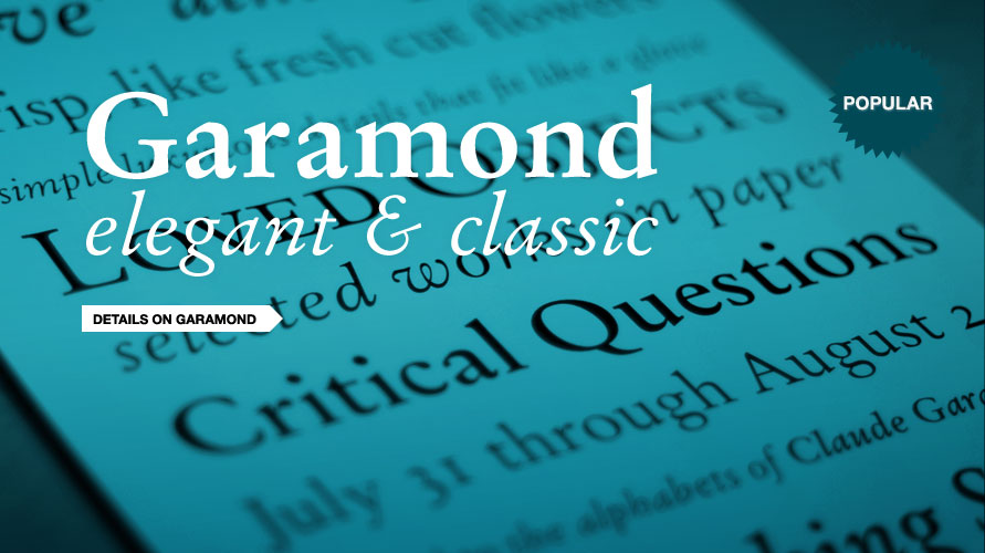 Garamond usage sample