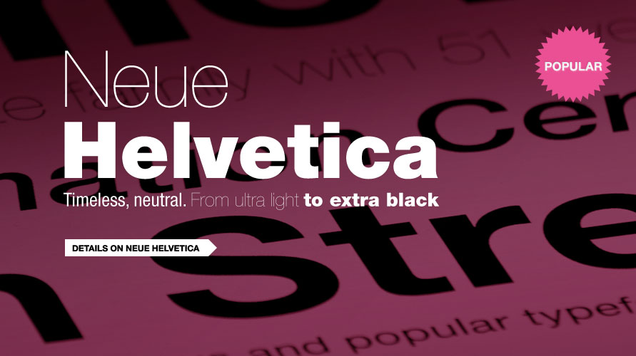 Neue Helvetica usage sample
