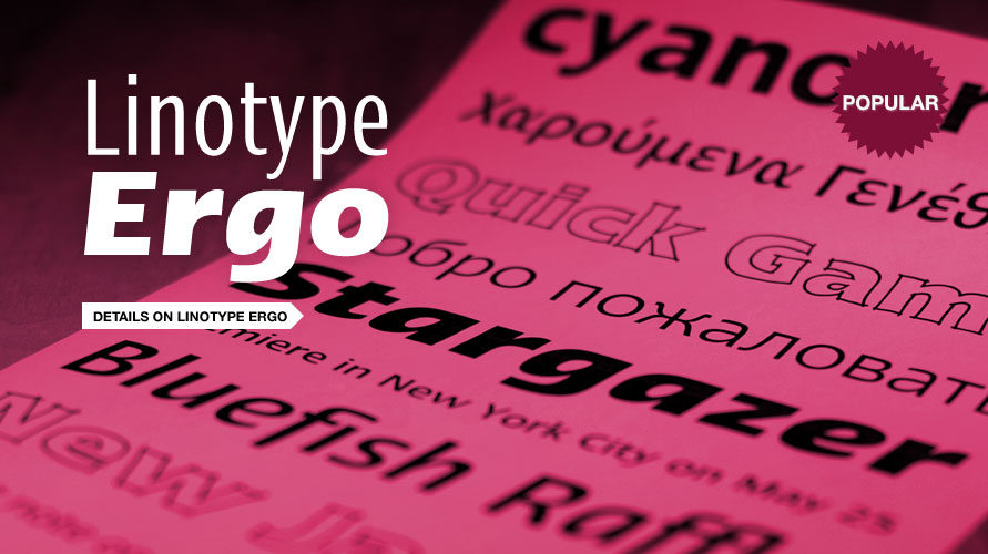 Linotype Ergo usage sample