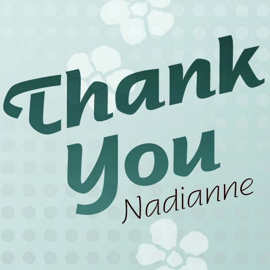 Nadianne font sample