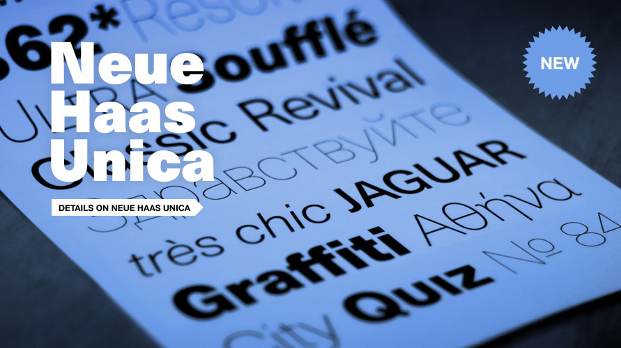 Neue Haas Unica usage sample