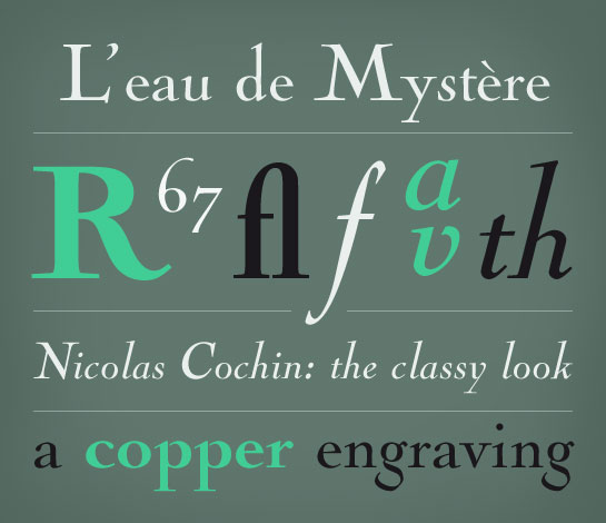 Nicolas Cochin font sample
