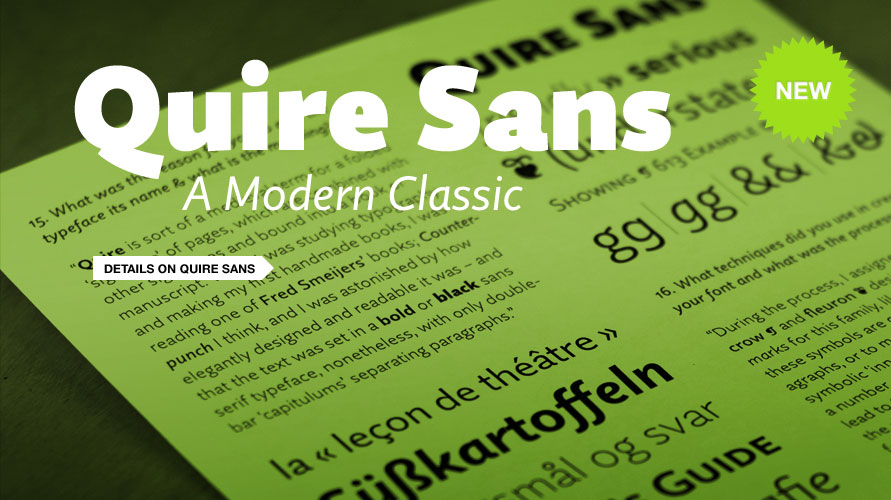 Quire Sans usage sample
