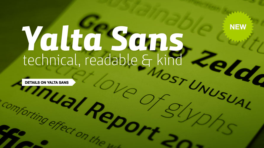 Yalta Sans usage sample
