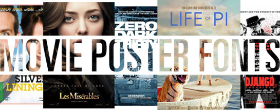 Oscar-awarded movie fonts 2013