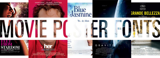 Oscar-awarded movie fonts 2014