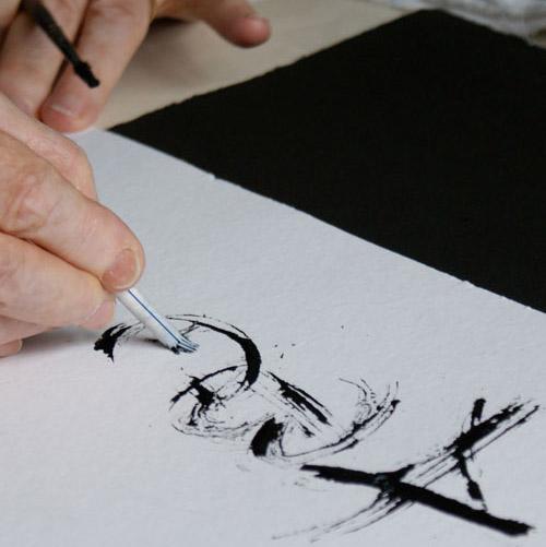 Auch bei dieser zweiten Arbeitsprobe wird deutlich, welche Dynamik und Spontaneität das einzigartige Schreibtool erzeugt, mit dem Gottfried Pott die Potpourri gestaltete.