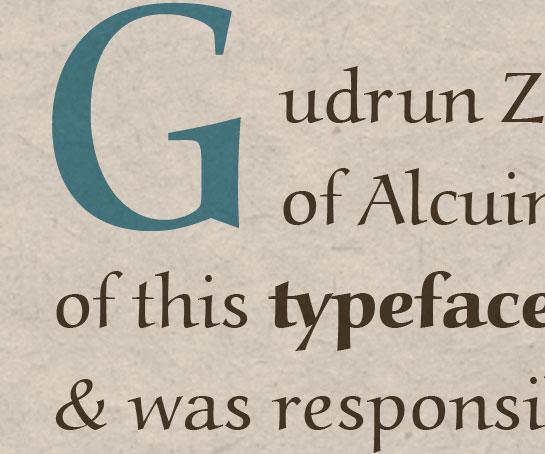 Muestra de la fuente Alcuin