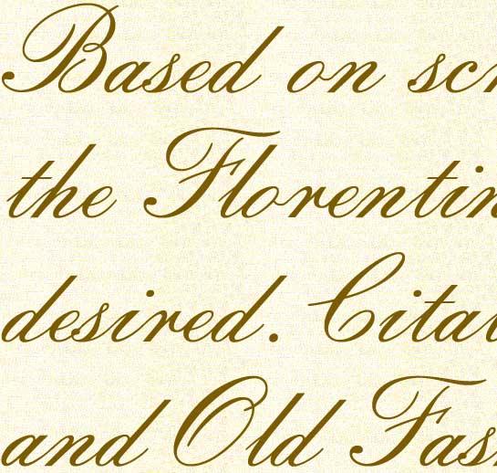 Florentine Script font sample