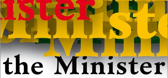 Minister font sample