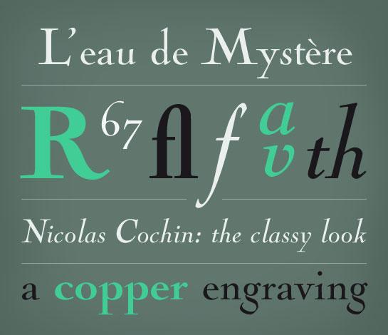 Nicolas Cochin font sample