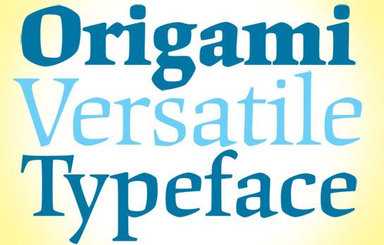 Origami font sample