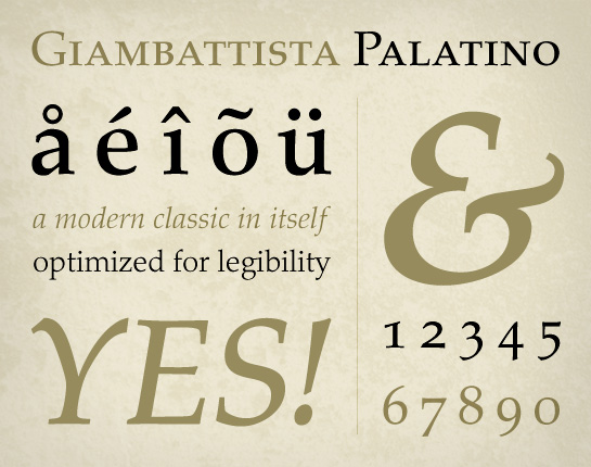 Palatino – Font of the Week