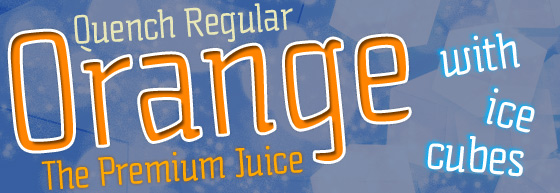 Quench font sample