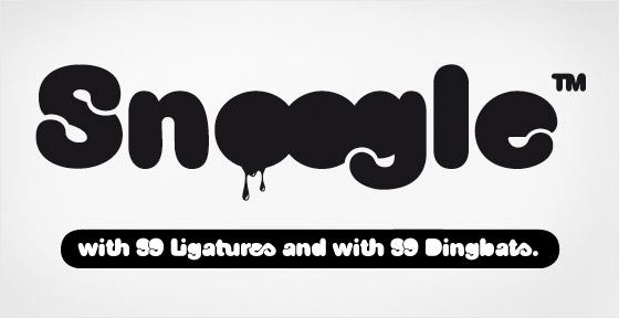 Snoogle font sample