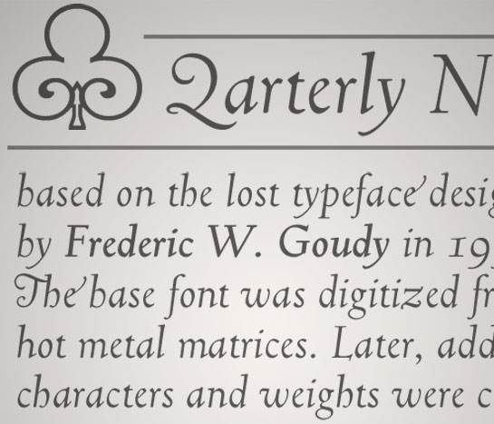 Truesdell font sample