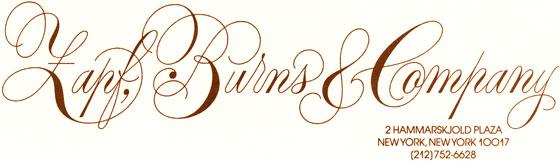 "Libelle ""Zapf & Burns Company"""