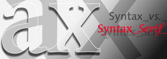 Échantillon d'utilisation de Syntax Serif