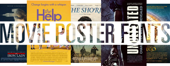 Oscar-awarded movie fonts 2012