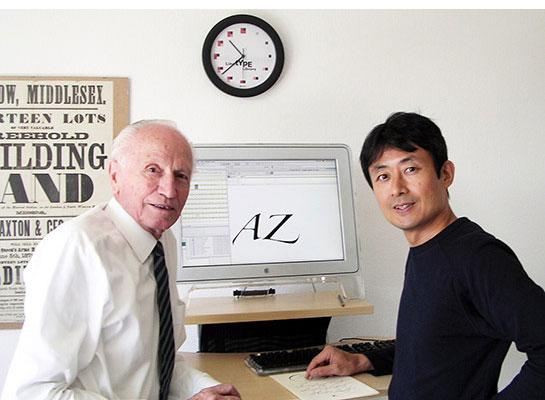 Hermann Zapf and Akira Kobayashi